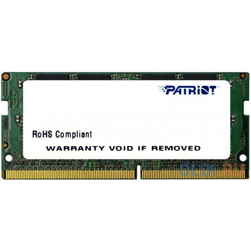 Оперативная память Patriot PSD44G240081S SO-DIMM 4Gb DDR4 PC3-19200 2400MHz