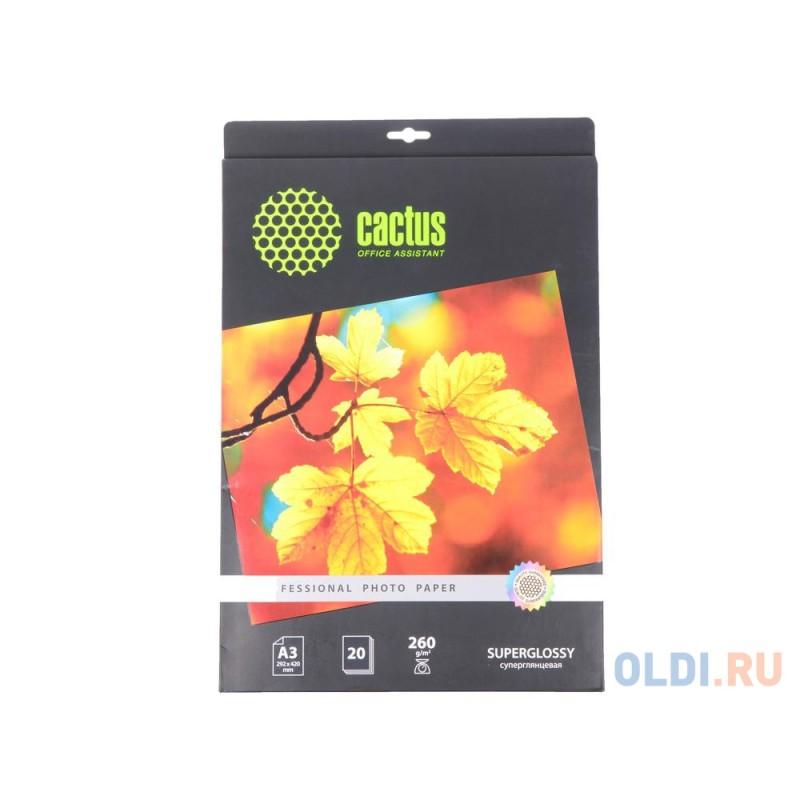 Бумага Cactus CS-HGA326020 Professional А3 260г/кв.м суперглянцевая 20л