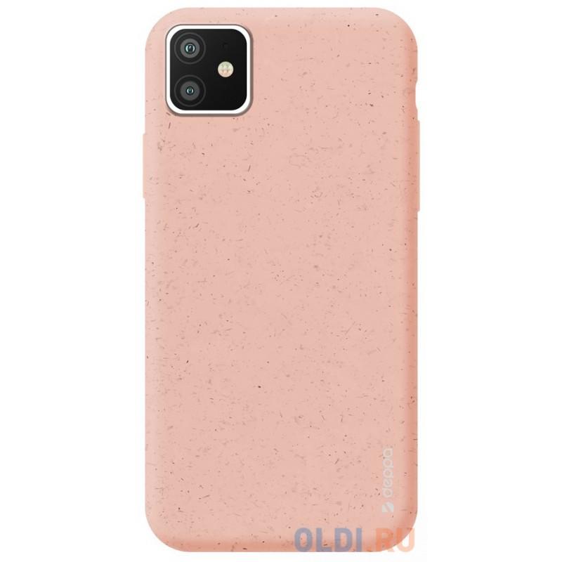 Чехол для смартфона для Apple iPhone 11 Deppa Eco Case 87279 Pink клип-кейс, полиуретан