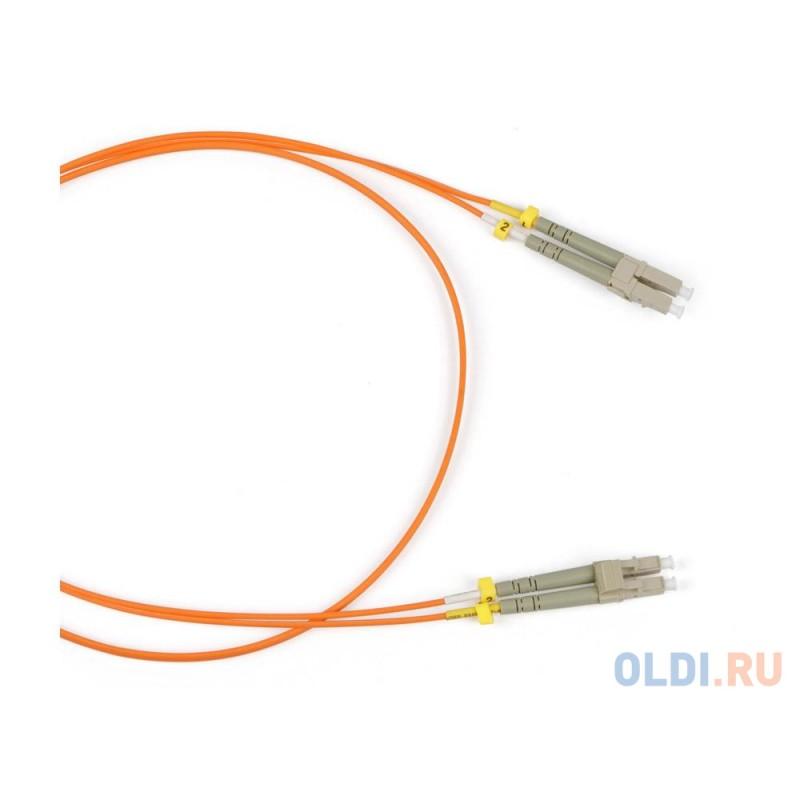 Патч-корд Hyperline FC-50-LC-LC-PC-2M/FC-D2-50-LC/PR-H-2M-LSZH-OR волоконно-оптический шнур 2м