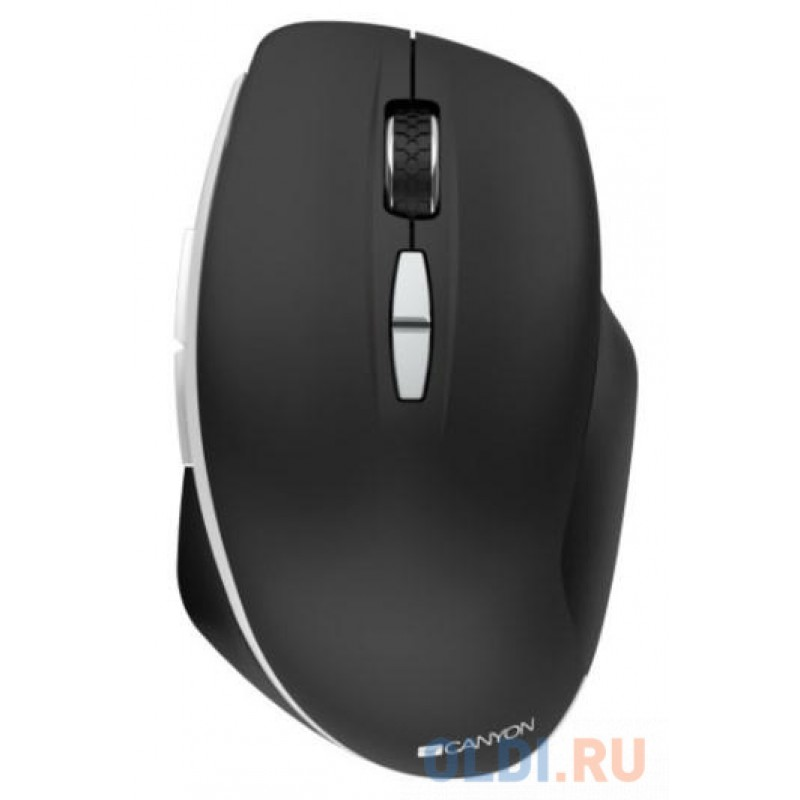 Canyon  2.4 GHz  Wireless mouse ,with 7 buttons, DPI 800/1200/1600, Battery: AAA*2pcs,Black,72*117*41mm, 0.075kg