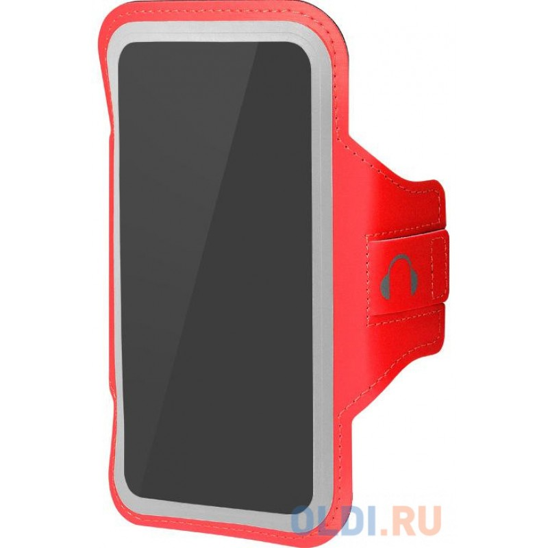 Чехол спортивный (неопрен+полиэстер) для смартфонов до 5.8 дюймов DF SportCase-03 (red)