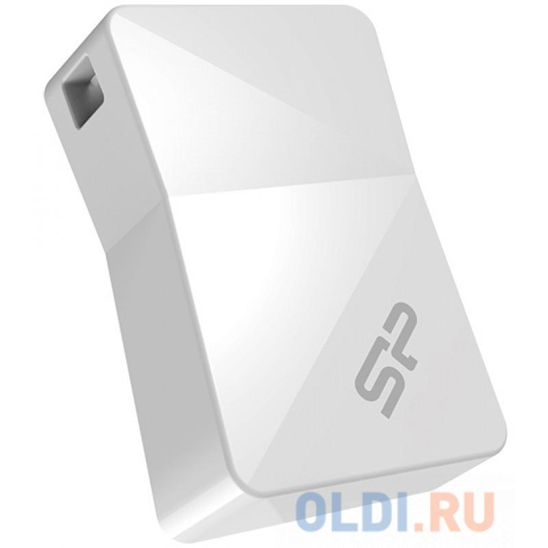 Внешний накопитель 16GB USB Drive <USB 2.0 Silicon Power Touch T08 SP016GBUF2T08V1W белый