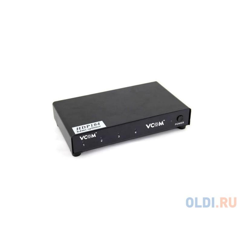 Разветвитель HDMI Spliitter 1=4 3D Full-HD 1.4v, каскадируемый VCOM <VDS8044D/DD414A