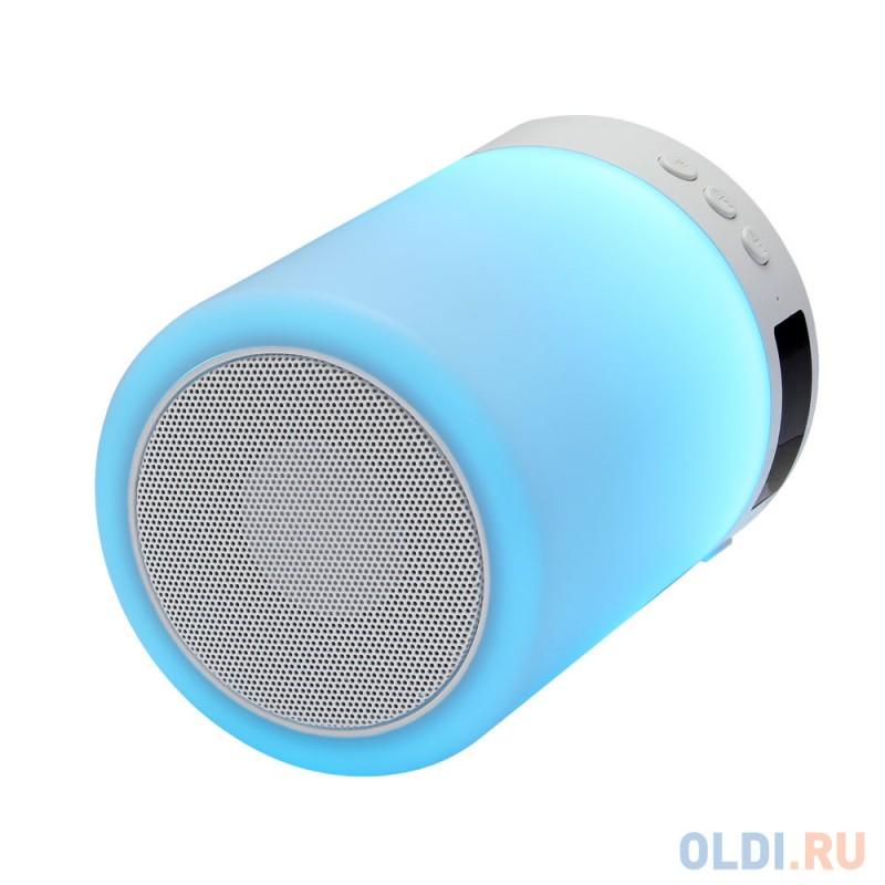 Беспроводная BT-Колонка GiNZZU® GM-893W, 5W/LED/RGB/TF/AUX/FM/часы/будильник