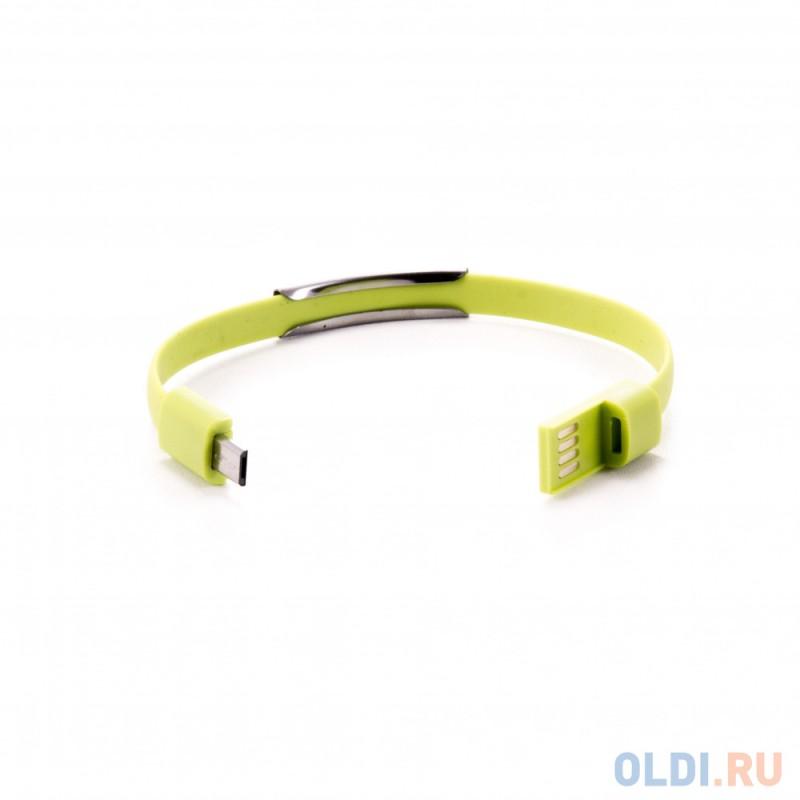 Кабель-браслет microUSB Gmini GM-WDC-200L плоский салатовый