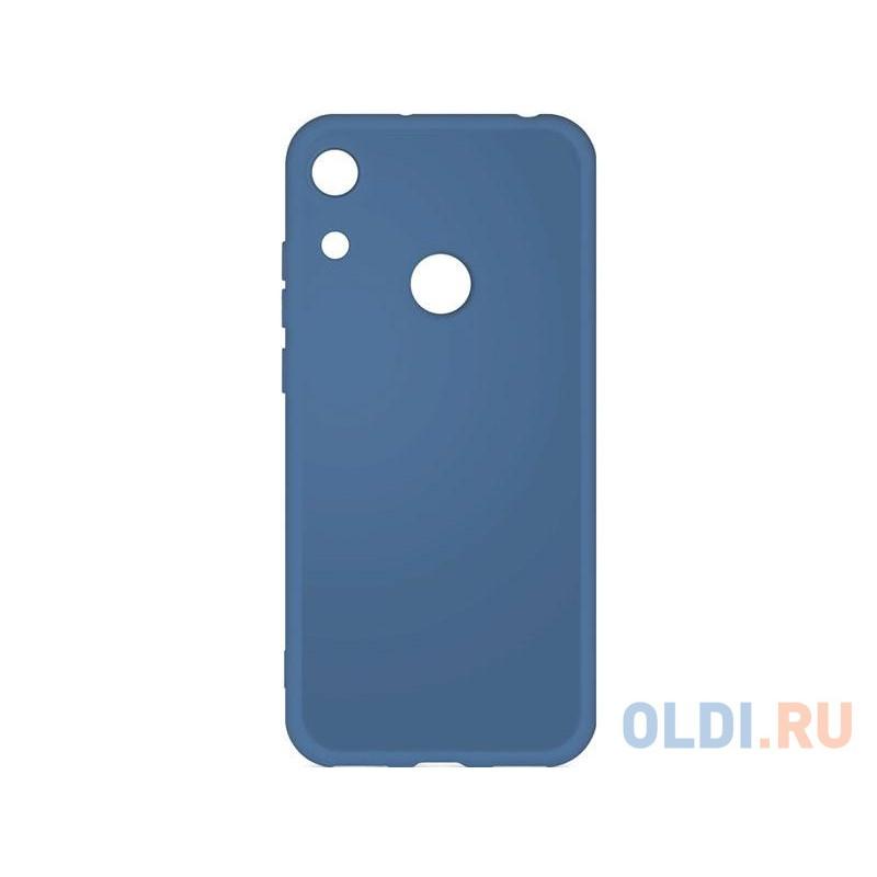Силиконовый чехол с микрофиброй для Huawei Honor 8A/8A Pro DF hwOriginal-03 (blue)
