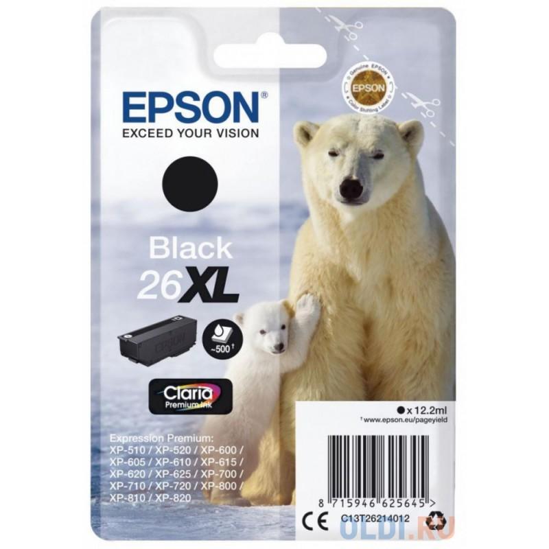Картридж Epson C13T26014012 для Epson Expression Premium XP-600 Expression Premium XP-700 Expression Premium XP-800 230 Черный