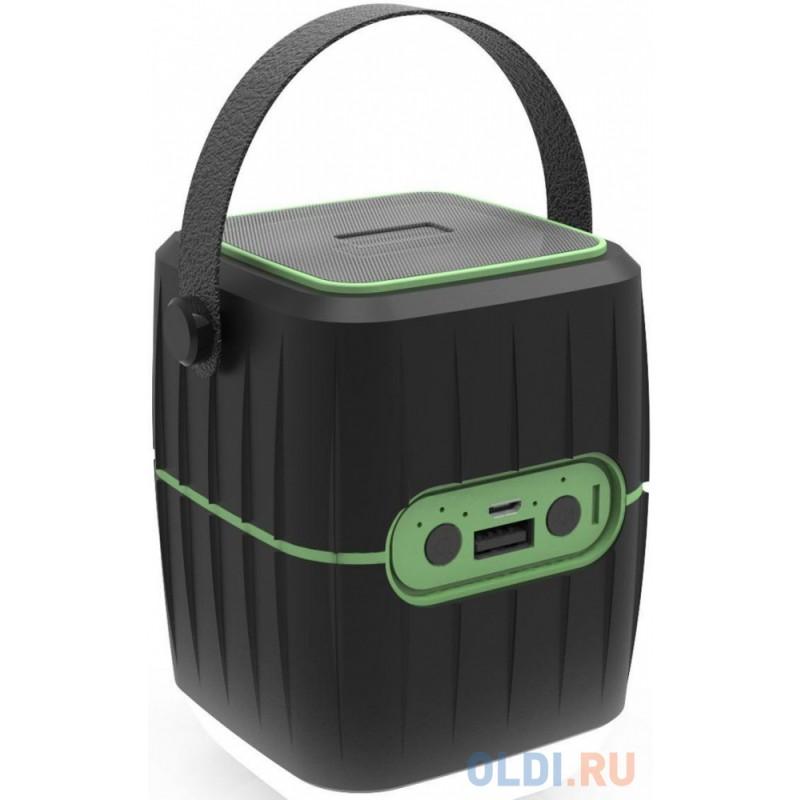 Колонки RITMIX RPB-8800LT black+green (8800 мАч,зашита IP65, 3 режима фонаря,USB)