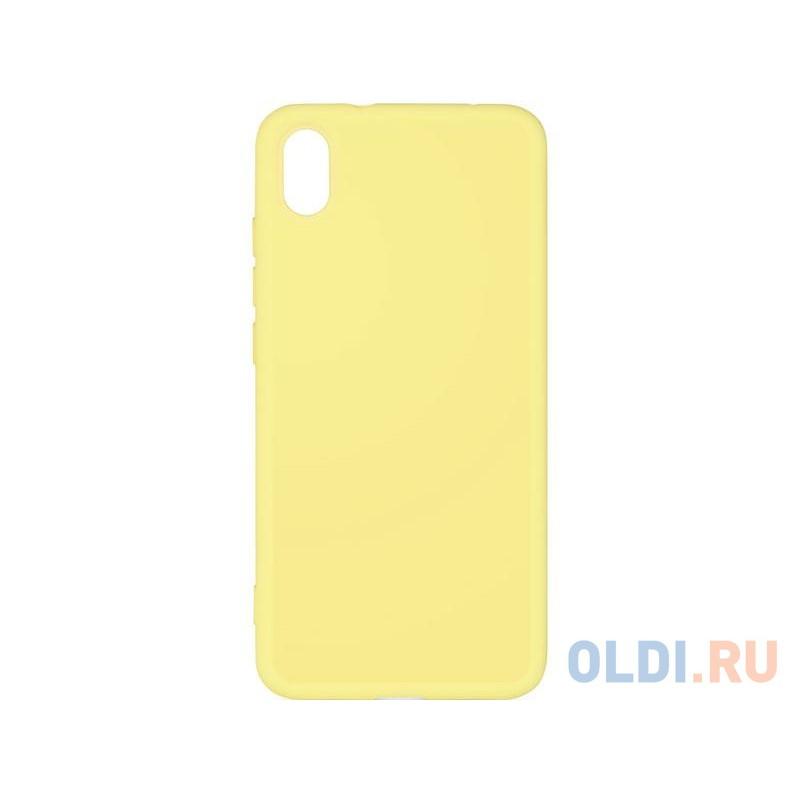 Чехол-накладка для Xiaomi Redmi 7A DF xiOriginal-01 Yellow клип-кейс, силикон, микрофибра