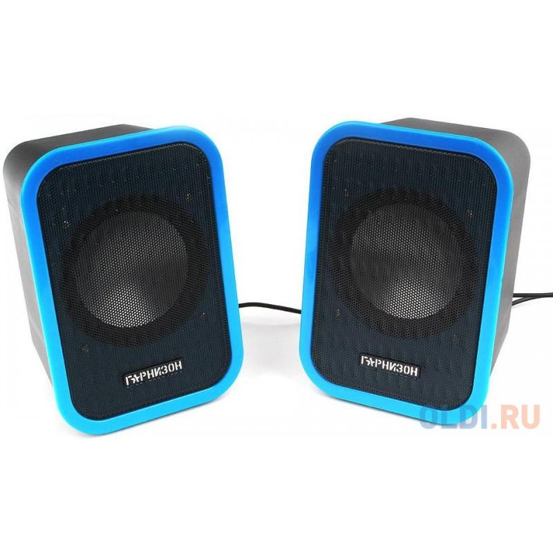 Гарнизон GSP-110 черный/синий {6 Вт (RMS), USB, 80 - 20 000 Гц, 4 Ом}