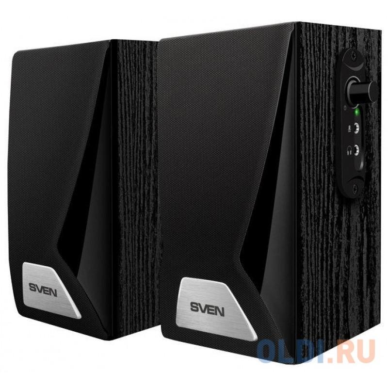 Колонки Sven SPS-555, чёрный,2.0, USB, мощность 2x3 Вт(RMS)