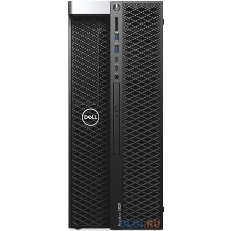 PRECISION T5820 RTX i9-10900X(3.5GHz, 10C), 16GB(2x8GB) DDR4  UDIMM 2666MHz, SSD 256GB PCIe NVMe cl40+1TB SATA 7.2k, no graphics, DVD-RW,Linux, keyboard, mouse, 3Y Basic NBD