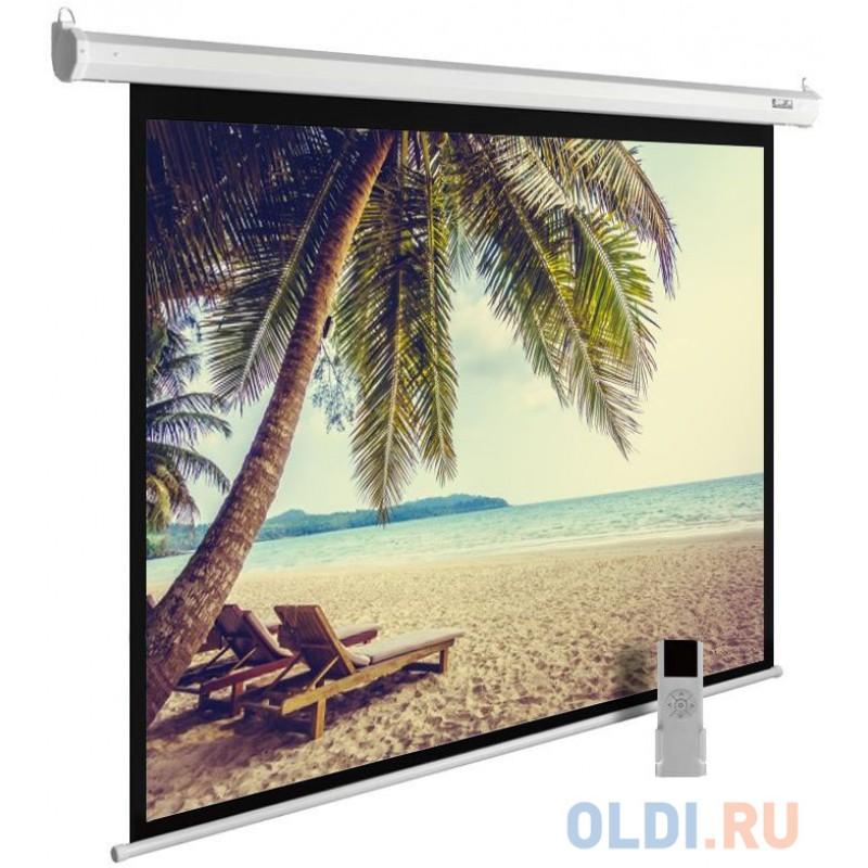 Экран Cactus 360x360см MotoExpert CS-PSME-360x360-WT 1:1 настенно-потолочный рулонный белый (моторизованный привод)