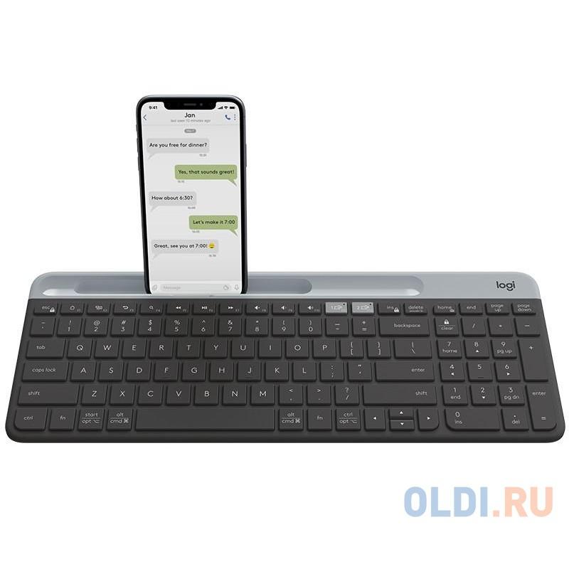 (920-009275) Клавиатура Беспроводная Logitech Slim Wireless Bluetooth Multi-Device Keyboard K580