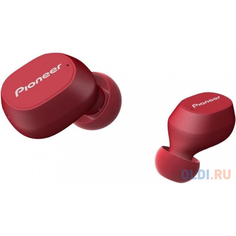 Гарнитура вкладыши Pioneer SE-C5TW-R красный беспроводные bluetooth (в ушной раковине)