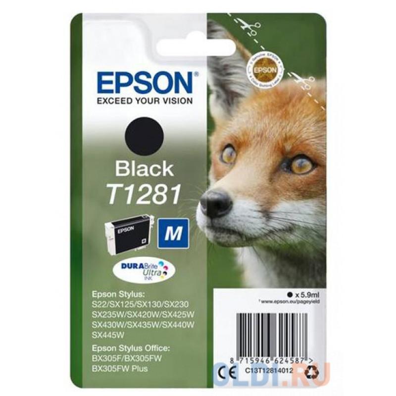 Картридж Epson C13T12814012 для Epson Stylus S22 Stylus SX125 1100 Черный