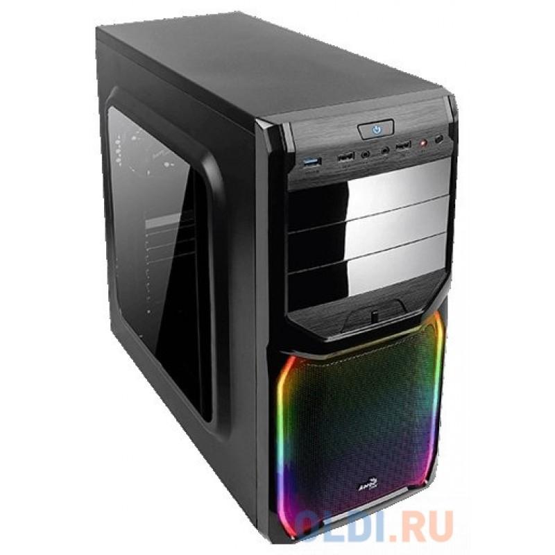 Корпус ATX Aerocool V3X RGB Window Без БП чёрный 57813