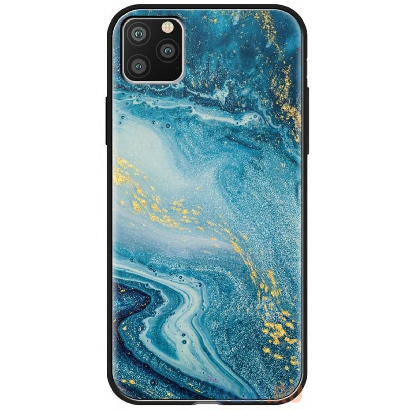 Чехол для смартфона для Apple iPhone 11 Pro Max Deppa Glass Case 87267 w/print клип-кейс, полиуретан, поликарбонат, стекло