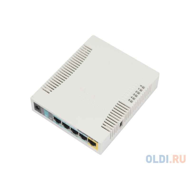 Беспроводной маршрутизатор MikroTik RB951Ui-2HnD 802.11bgn 300Mbps 2.4 ГГц 5xLAN USB белый