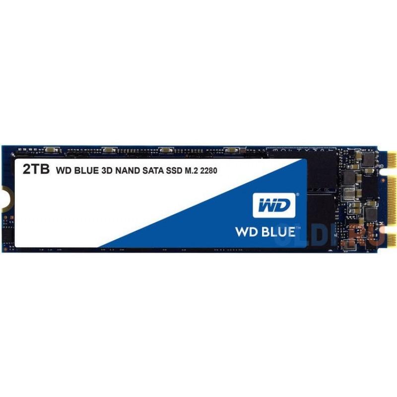 Твердотельный накопитель SSD M.2 2 Tb Western Digital WDS200T2B0A Read 560Mb/s Write 530Mb/s 3D NAND TLC