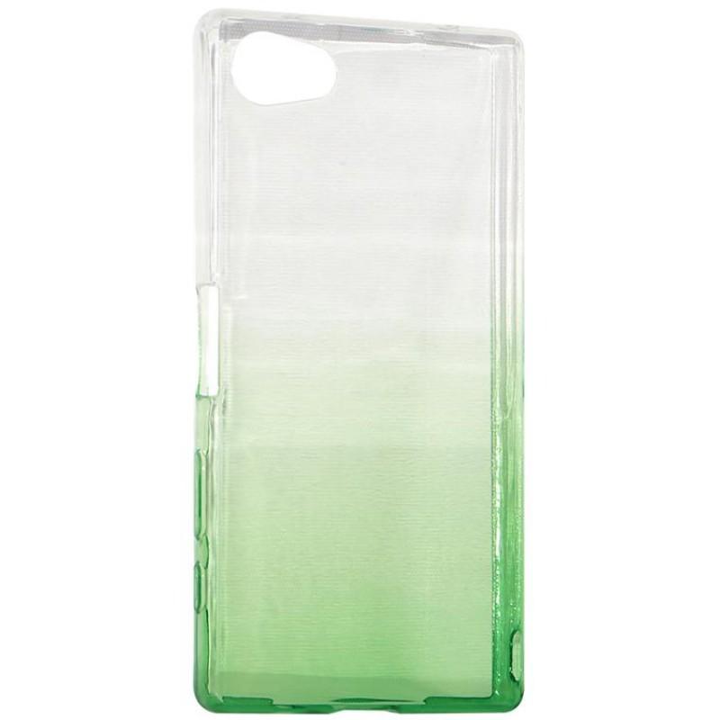 Крышка задняя для Sony Z5 MINI/Z5 COMPACT Силикон Зелёный