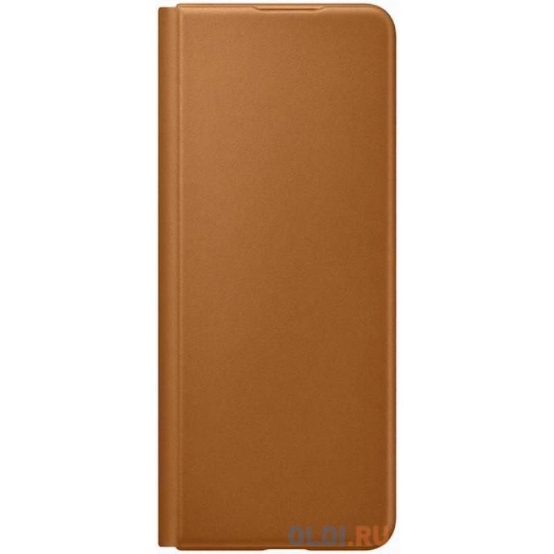 Чехол (клип-кейс) Samsung для Samsung Galaxy Z Fold3 Leather Flip Cover коричневый (EF-FF926LAEGRU)
